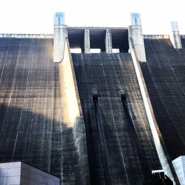 演奏後の観光。宮ヶ瀬ダム観光放流。#宮ヶ瀬ダム